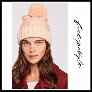 ce68a04129d Free People Accessories - ❗️6-HOUR SALE❗️FREE PEOPLE POM POM BEANIE HAT